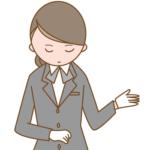 葬儀社を紹介している女性の画像